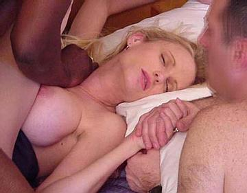 image Hubby films wife being fucked by 2 well hung black strangers
